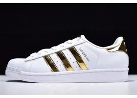 2019 adidas Originals Superstar White Metallic Gold