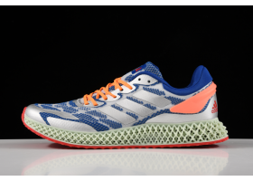 2020 Adidas Alphaedge 4D LTD M Blue Silver Red Printing Running Shoes FV5320 For Sale
