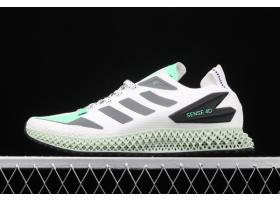 2020 adidas Alphaedge 4D LTD M White Wolf Grey Green FW7092 For Sale