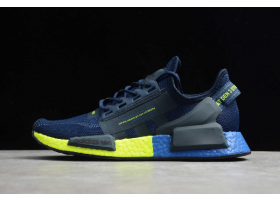 2020 adidas NMD R1 V2 Collegiate Navy Signal Green FX3948 For Sale