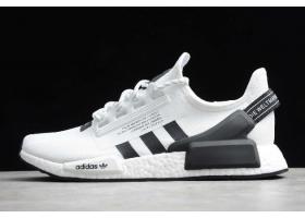 2020 adidas NMD R1 V2 White Black FV9022 For Sale