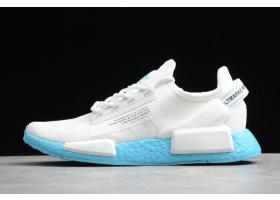 2020 adidas NMD R1 V2 White Blue FX3901 For Sale