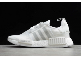 2020 adidas NMD R1 White Silver YF9866 For Sale