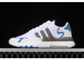 2021 adidas Nite Jogger Cloud White Grey Two Hazy Blue FX6904 For Sale