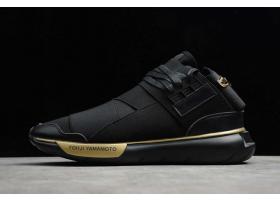 2021 adidas Y 3 Qasa High Black Metallic Gold S86166 For Sale