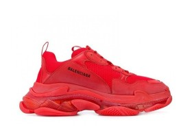 Clear Sole Triple Red