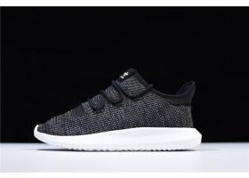 Mens and WMNS adidas Tubular Shadow Knit Black White Shoes