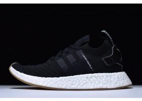 New adidas NMD R2 PK Japan Core Black Black White Gum