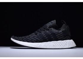 New adidas NMD R2 Primeknit Black White Pink