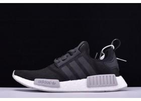 New adidas NMD Rollerknit Black Reflective Black Grey White