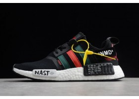 Off White x adidas NMD XR1 PK Black Green Red White