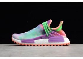 Pharrell x adidas NMD Hu Race Trail Holi Chalk Coral Flash Green Lab Purple
