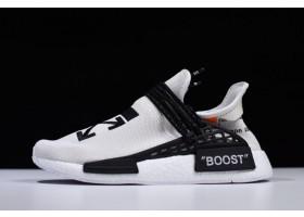 Virgil Abloh OFF WHITE x Pharrell x adidas NMD Hu Race Trail Light Grey Black White