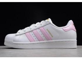 WMNS adidas Superstar White Pink Metallic Gold