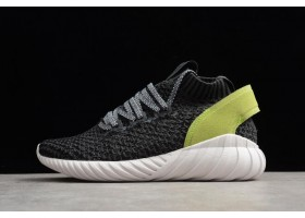 WMNS adidas Tubular Doom Sock Primeknit Carbon Black Yellow