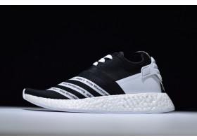 White Mountaineering x adidas NMD R2 Primeknit Core Black Footwear White
