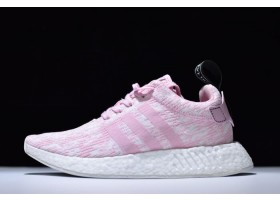 Womens adidas NMD R2 Primeknit Pink White Running Shoes