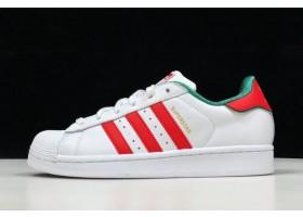 adidas Originals Superstar 2 White Red Green Gold