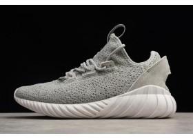 adidas Originals Tubular Doom Sock Primeknit Grey White Grey
