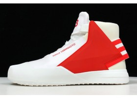 adidas Y 3 Bball Tech Hi Top White Red