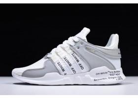 2018 Off White x adidas EQT Support ADV 93 17 White Grey Black