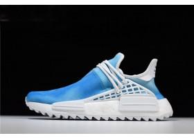 2018 Pharrell x adidas Originals NMD Human Race China Exclusive Peace Blue Footwear White