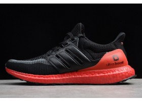 2019 Adidas Ultra Boost 2.0 Black Varsity Red FW3724 For Sale