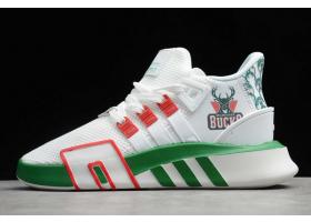 2020 adidas EQT Bask ADV Bucks White Green Red FU9511 For Sale