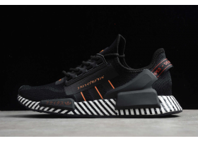2020 adidas NMD R1 V2 Black Orange White FW6411For Sale
