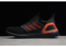 2020 adidas Ultra Boost 20 Black Solar Red EG0698 For Sale