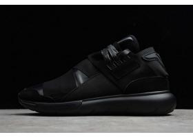 2020 adidas Y 3 QASA High Black Leather AC0907 For Sale