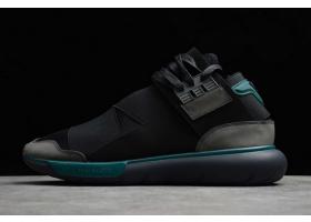 2020 adidas Y 3 Qasa High Black Green S84735 For Sale