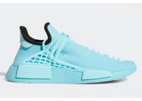 2021 Pharrell x adidas NMD Hu Clear Aqua Light Aqua Core Black GY0094 For Sale