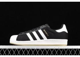 2021 adidas Originals Superstar Black Gold White S82575 For Sale
