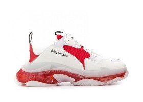 Clear Sole Gray White Red