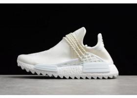 Mens Pharrell x adidas NMD Hu Trail Blank Canvas Cream White