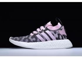 Mens and Womens adidas NMD R2 Pink Black