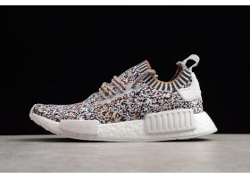 New adidas NMD R1 Color Static White Black Mutli Color
