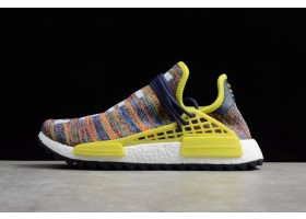Pharrell x adidas NMD Hu Trail Multicolor Noble Ink Bold Yellow Footwear White