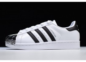 Womens adidas Superstar Metal Toe White Black