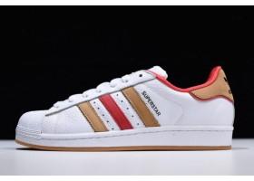 adidas Superstar White Red Yellow