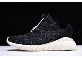adidas Tubular Doom Sock Primeknit Black Sliver Running Shoes